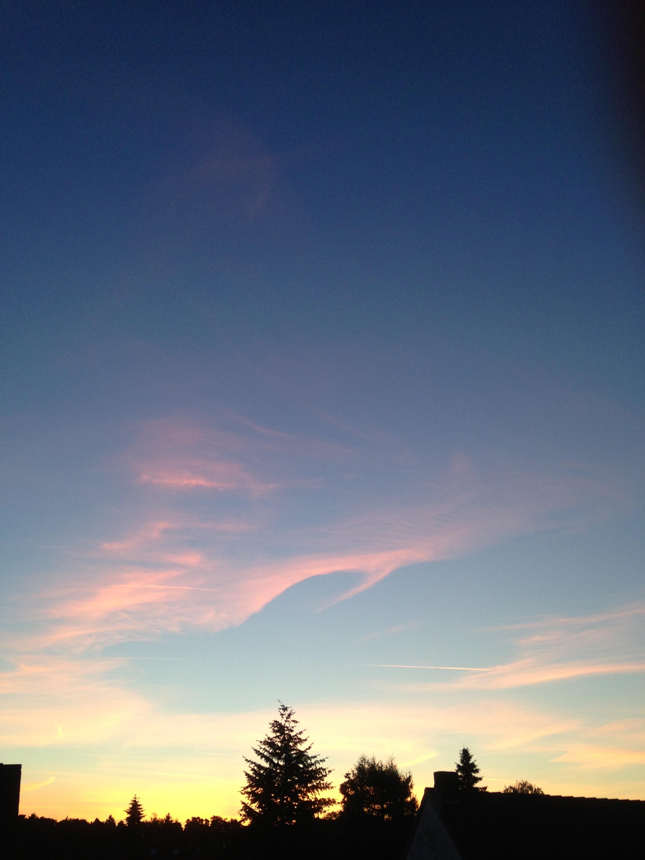 Morgenhimmel beim Aufstehen